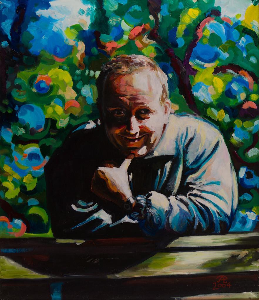Selbstportrait im Park | Originalformat: 70x60cm  -  Produktionsjahr: 2004
