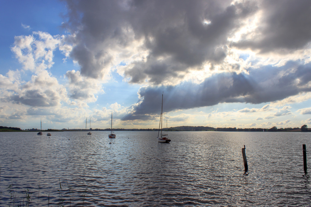 Sieseby an der Schlei | Segelboote auf der Schlei in Sieseby