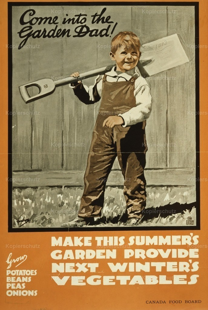 Sampson_ J.E. (1887-1946) - Poster 1914-18 - Come into the garden Dad