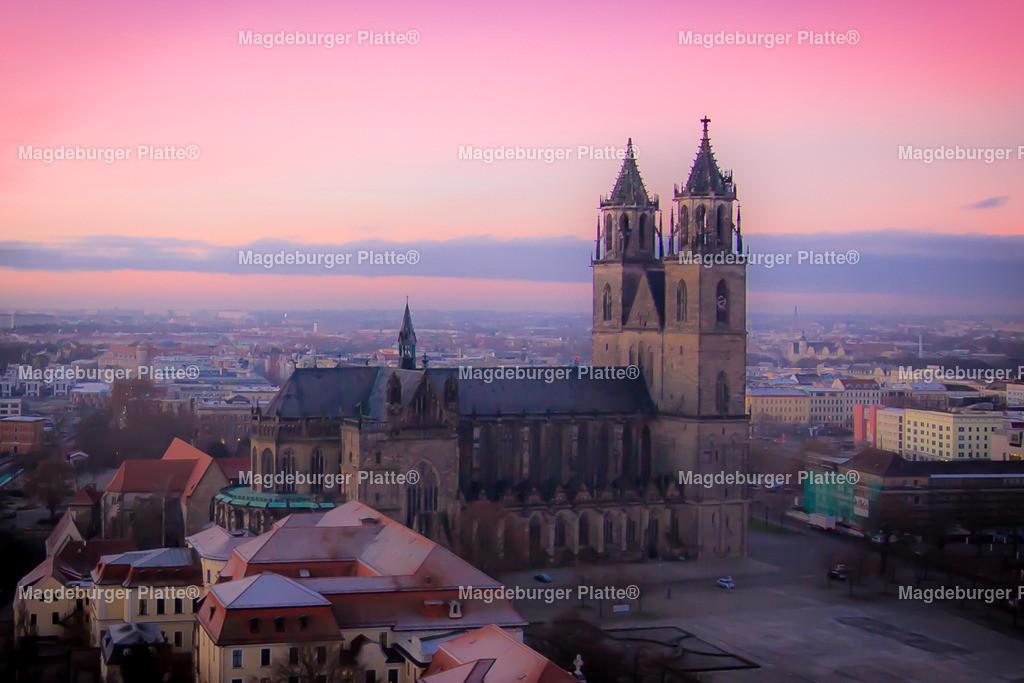 Luftbild Magdeburg Dom Morgendämmerung-0030