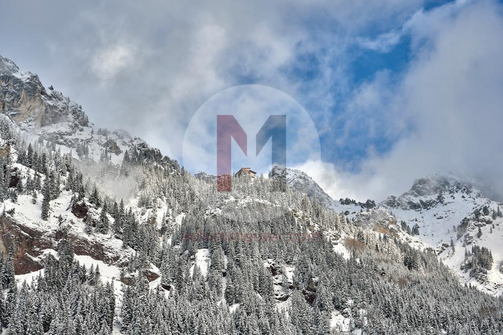 Blick aufs Gimpelhaus, Tannheimer Tal, Tirol, Österreich