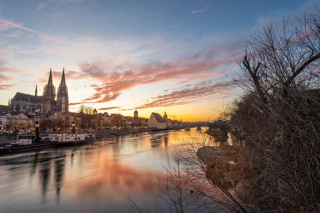 Dom Regensburg im Sonnenuntergang