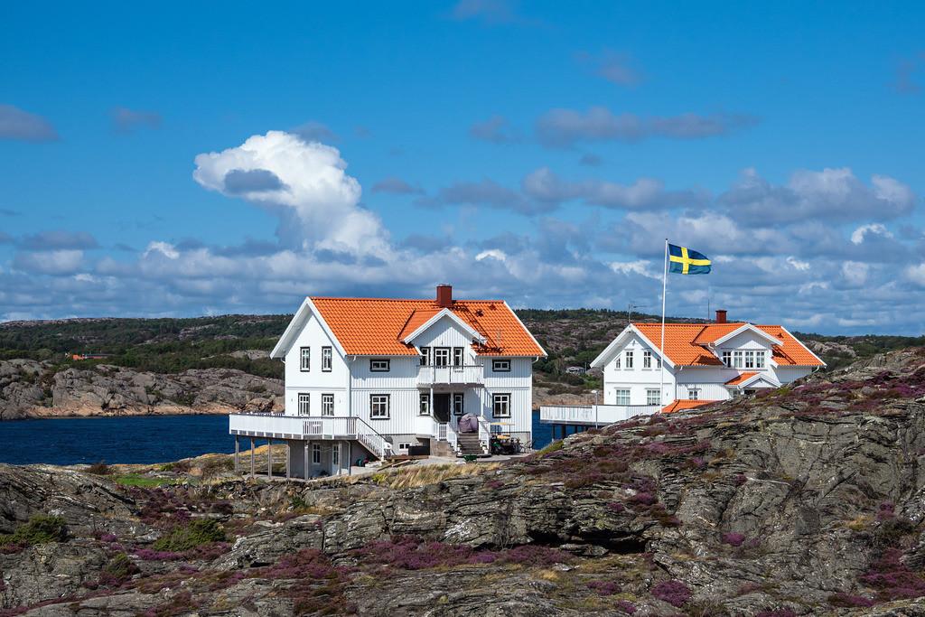 Blick auf die Insel Dyrön in Schweden | Blick auf die Insel Dyrön in Schweden.