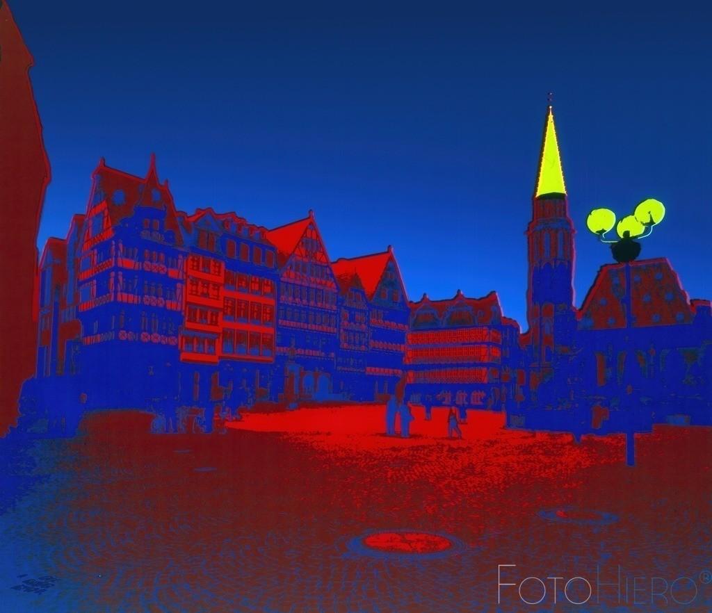 Ostzeile Römerberg | Die wiederaufgebaute Ostzeile auf dem Römerplatz in Frankfurt am Main