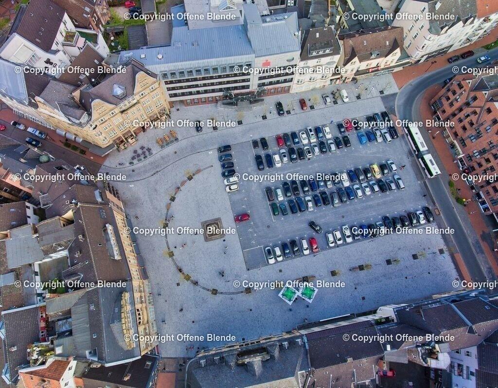 Luftbild Castroper Marktplatz | Der Marktplatz in der Castroper Altstadt aus der Luft
