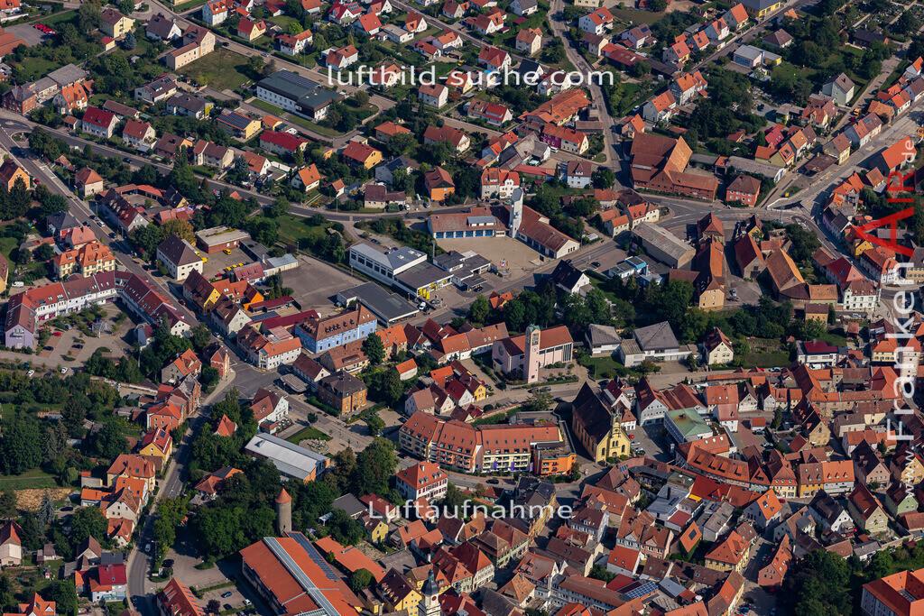 uffenheim-19-744   aktuelles Luftbild von  Uffenheim - Luftaufnahme wurde 2019 von https://frankenair.de mittels Flugzeug (keine Drohne) erstellt.