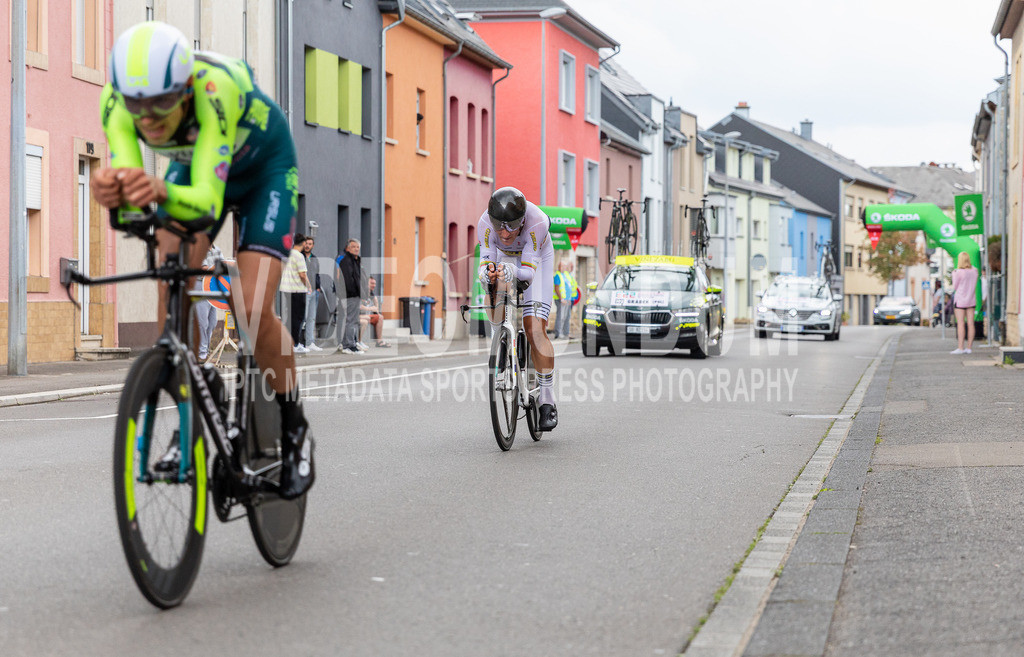 81st Skoda-Tour de Luxembourg 2021 | 81st Skoda-Tour de Luxembourg 2021, Stage 4 ITT Dudelange - Dudelange; Dudelange, 17.09.2021: GRADEK Kamil (Vini Zabù, 192) behind SISKEVICIUS Evaldas (DELKO, 136)