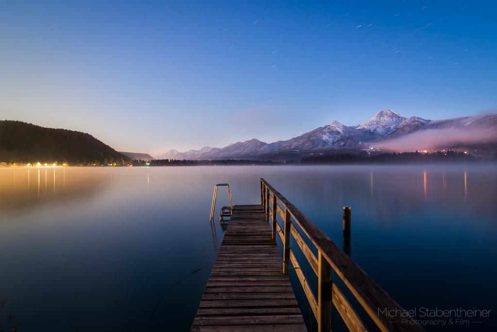 Nachts am Faaker See | Faaker See bei Villach im Vollmond