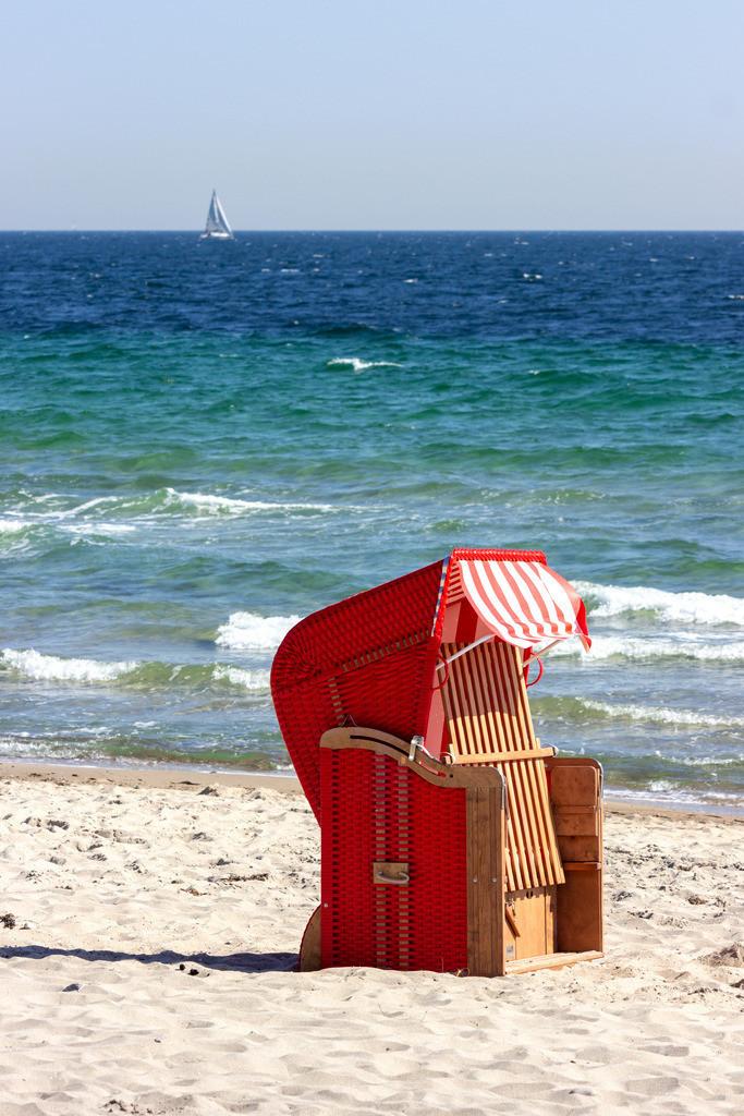 Strandkorb an der Ostsee | Strandkorb am Ostseestrand