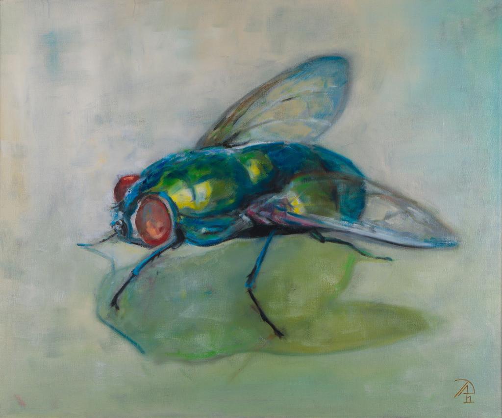 Die Fliege | Originalformat: 50x60cm - Produktionsjahr: 2011