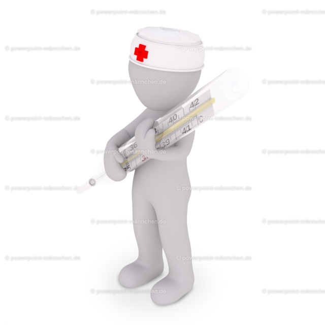 the nurse with a clinical thermometer | Quelle: https://3dman.eu   Jetzt 250 Bilder kostenlos sichern