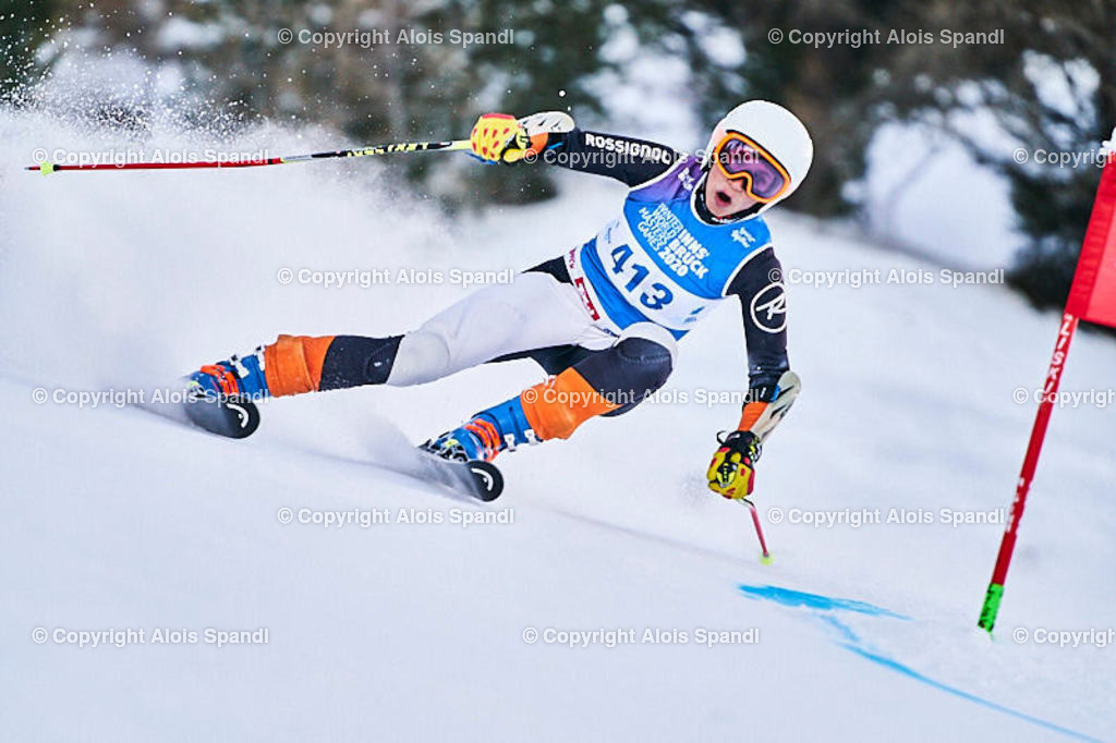 ALS5760_WWMG_GS-II_C | (C) FotoLois.com, Alois Spandl, WinterWorldMastersGames 2020 Innsbruck, Giant Slalom-II Gruppe C Damen, Patscherkofel Olympiaabfahrt, Mi 15. Jänner 2020.