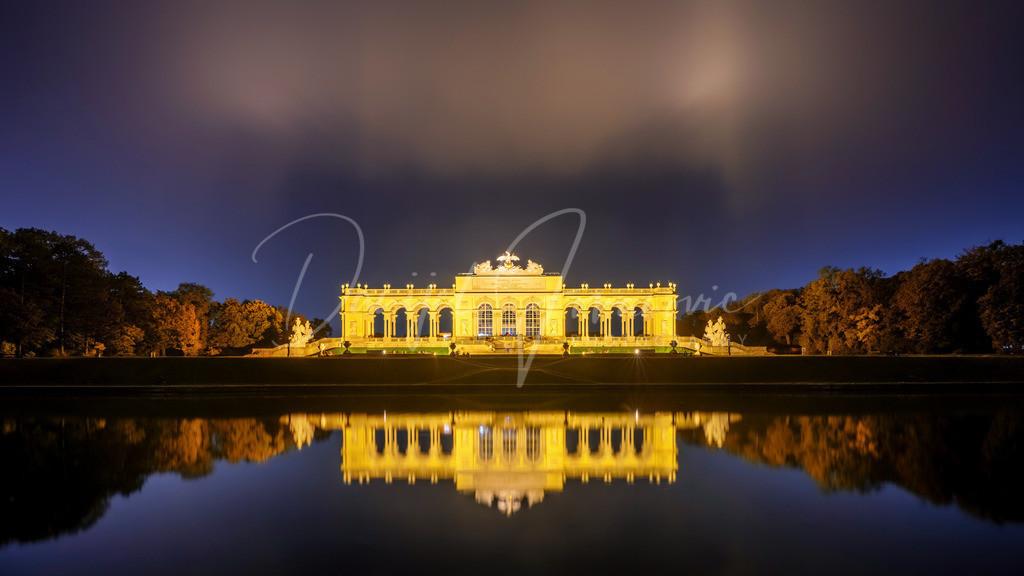 Gloriette | Gloriette im Schloss Schönbrunn im Herbst