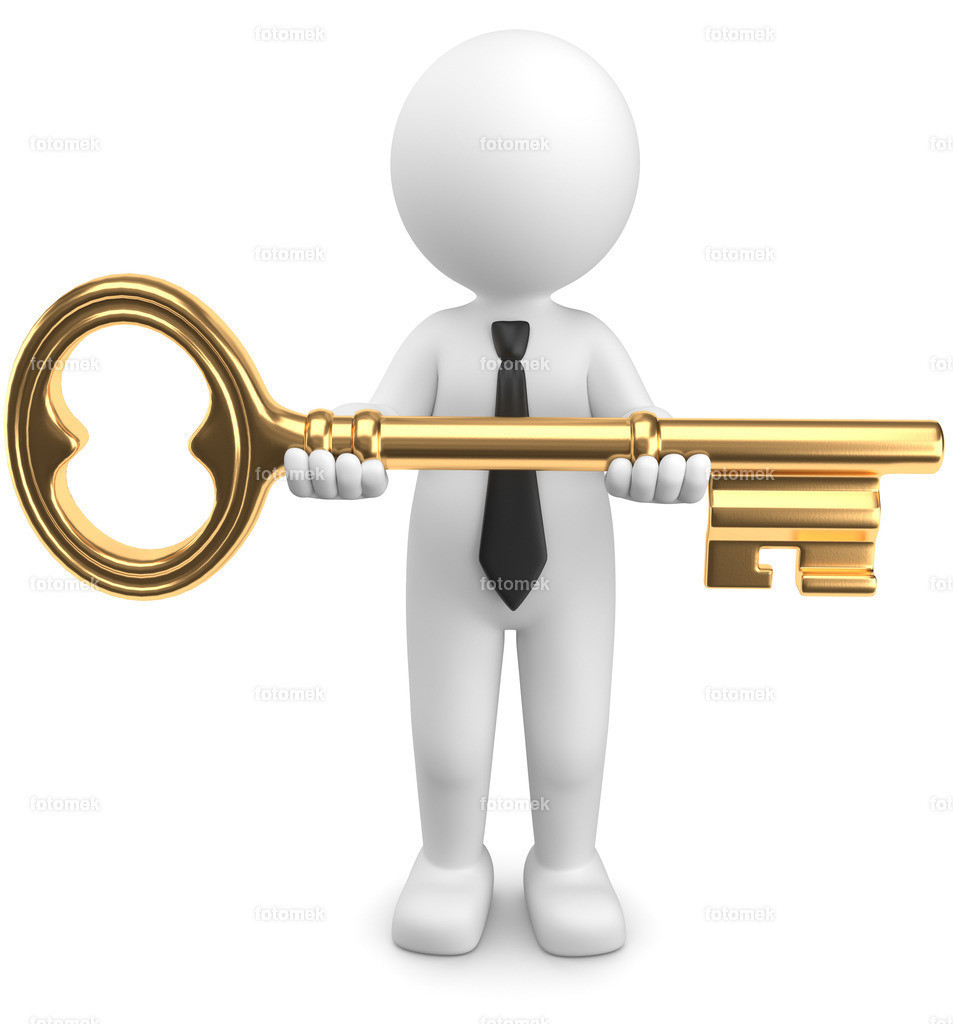 3d Männchen richtiger Schlüssel zum Erfolg