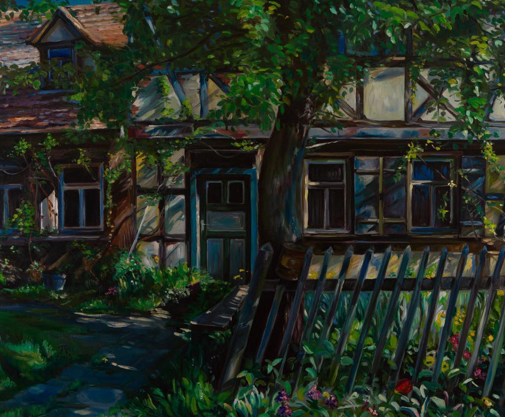 Haus im Garten | Originalformat: 75x90cm  -   Produktionsjahr: 2003