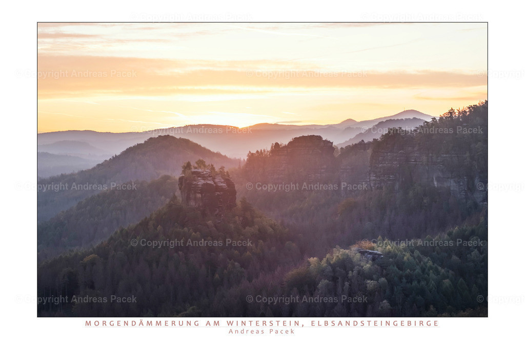 Morgendämmerung am Winterstein, Elbsandsteingebirge | Die Serie 'Deutschlands Landschaften' zeigt die schönsten und wildesten deutschen Landschaften.