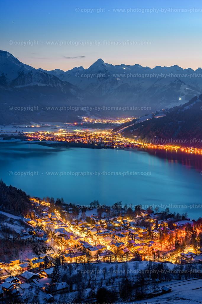 Zell am See im zur blauen Stunde Winter