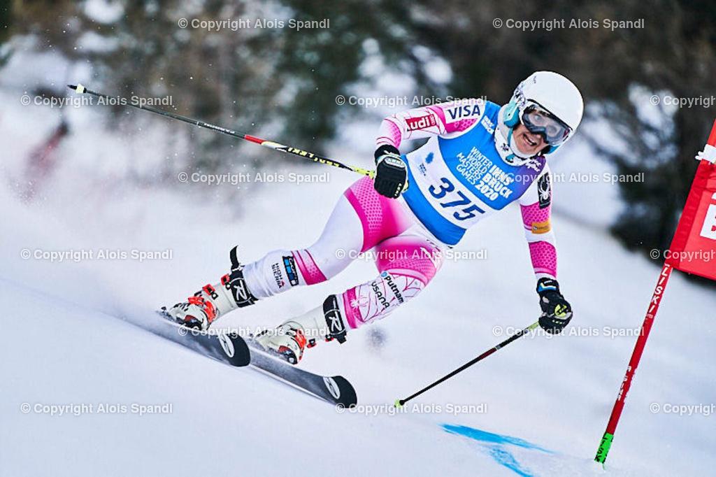 ALS5547_WWMG_GS-II_C | (C) FotoLois.com, Alois Spandl, WinterWorldMastersGames 2020 Innsbruck, Giant Slalom-II Gruppe C Damen, Patscherkofel Olympiaabfahrt, Mi 15. Jänner 2020.