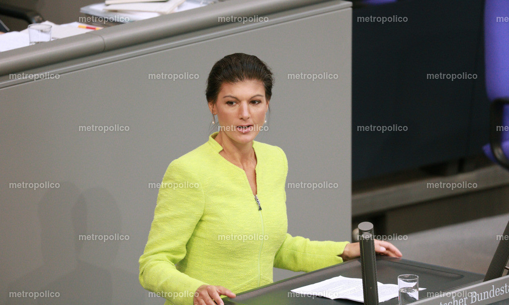 Sahra Wagenknecht hält Rede im Bundestag