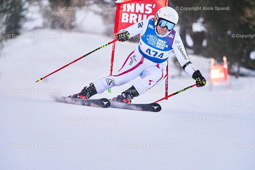 ALS6065_WWMG_GS-II_C | (C) FotoLois.com, Alois Spandl, WinterWorldMastersGames 2020 Innsbruck, Giant Slalom-II Gruppe C Damen, Patscherkofel Olympiaabfahrt, Mi 15. Jänner 2020.