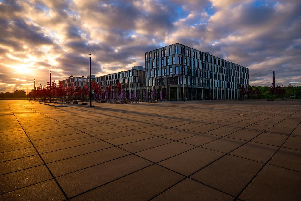 Fachhochschule Bielefeld | Fachhochschule Bielefeld bei Sonnenaufgang.