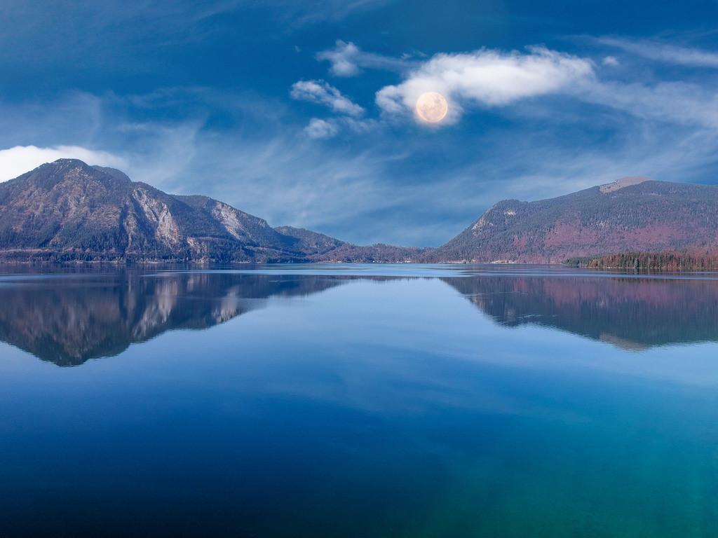Walchensee | Blick auf den Walchensee aus der Drohnenperspektive