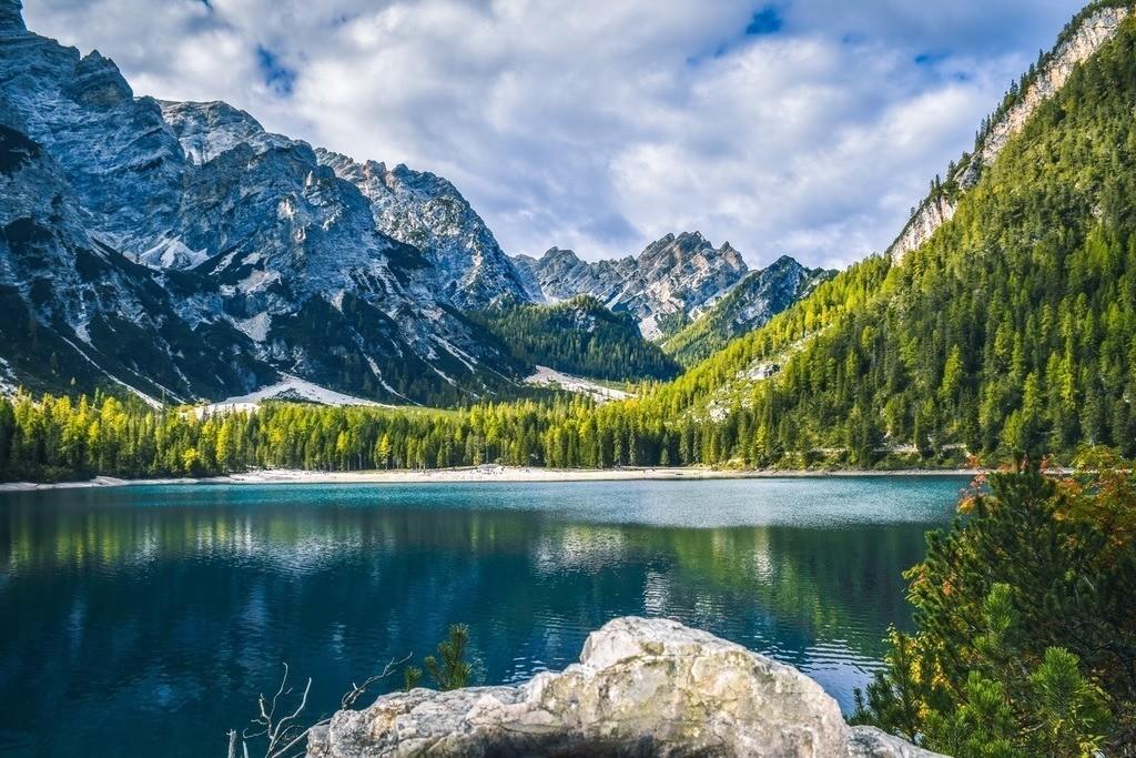 Lago di Braies | Bergpanorama am wunderschönen Pragser Wildsee