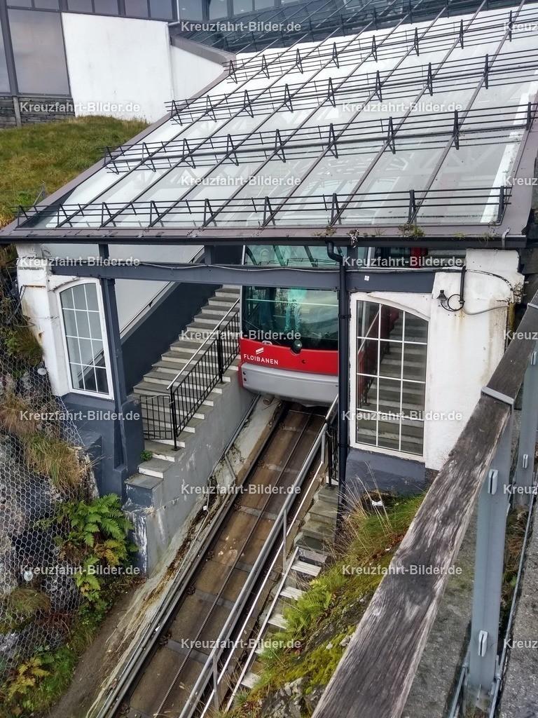 Floibanen in Bergen | Die Floibanen in Bergen an der Bergstation