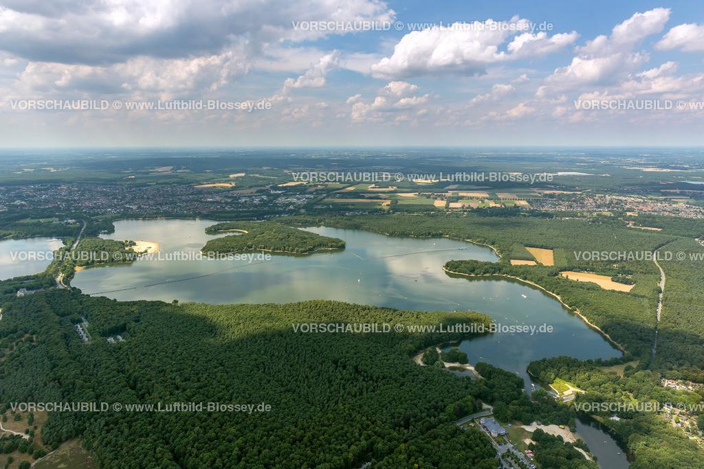 Haltern13081662 | Badesee, Halterner Stausee, Halterner See mit Seebad und Seeterasse, Luftbild von Haltern am See