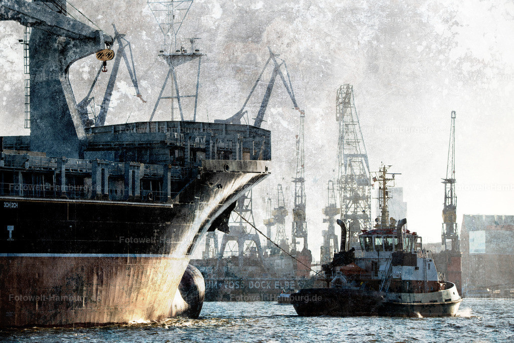12005873 - Containerschiff im Hamburger Hafen