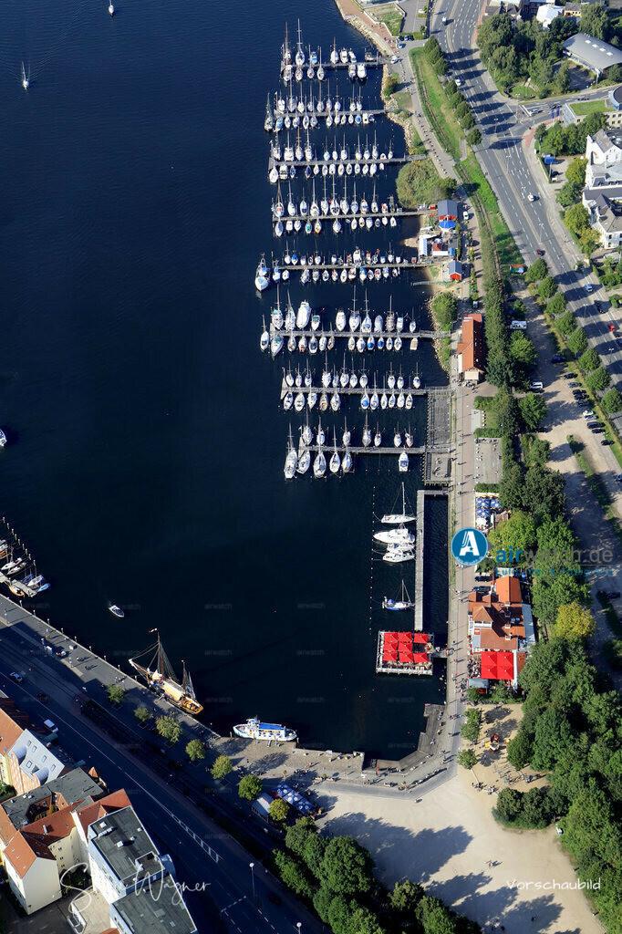 Luftbild Flensburger Foerde, Flensburg Binnenhafen, Hafenspitze | Flensburger Foerde, Flensburg Binnenhafen, Hafenspitze • max. 6240 x 4160 pix