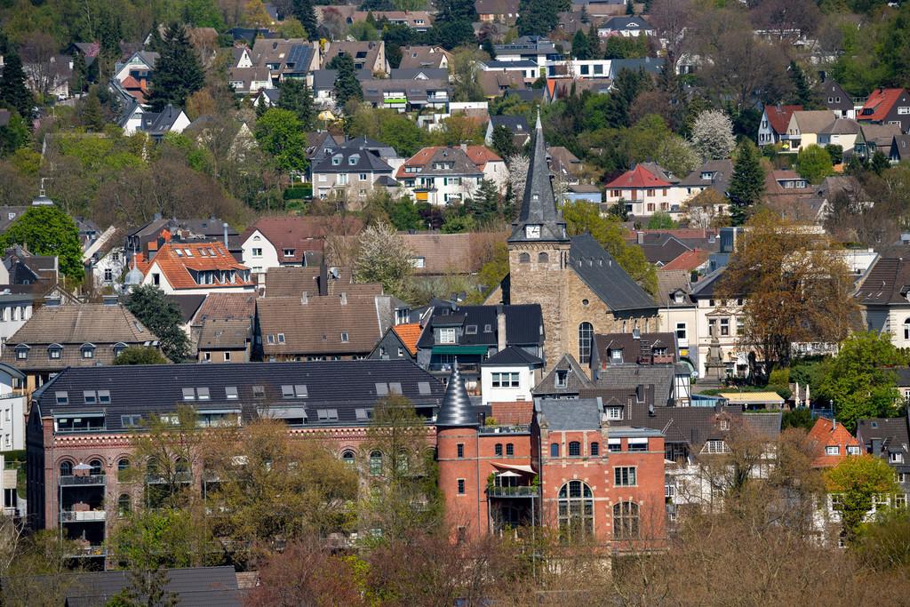 JT-200411-003 | Die Altstadt von Essen-Kettwig, im Süden der Stadt, mit der Marktkirche, Essen, Deutschland,