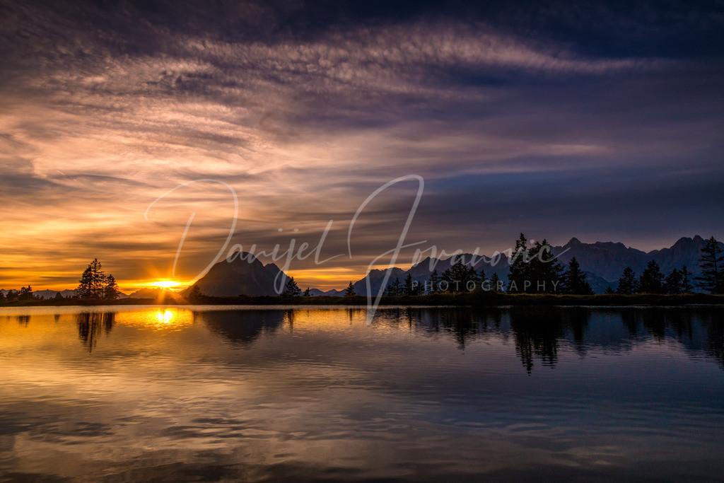Kaltwassersee | Der Kaltwassersee an einem wunderschönen Abend mit Blick zur Hohen Munde