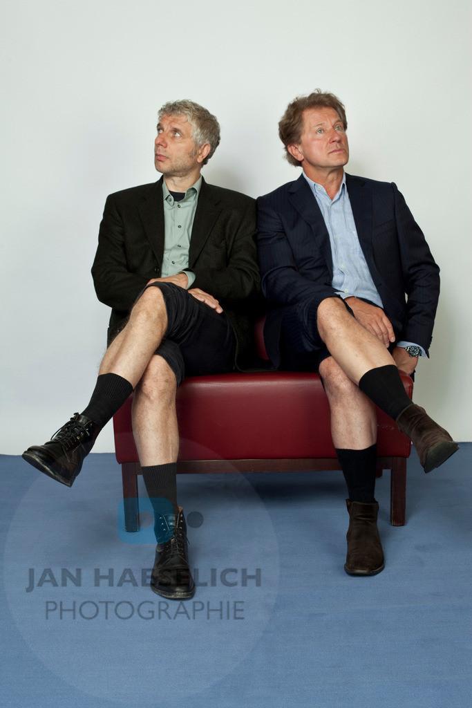 Udo Wachtveitl und Miroslav Nemec   Fototermin in Hamburg am 19.08.2010 zum Tatort des Bayrischen Rundfunks in Hamburg. Nächster BR Tatort