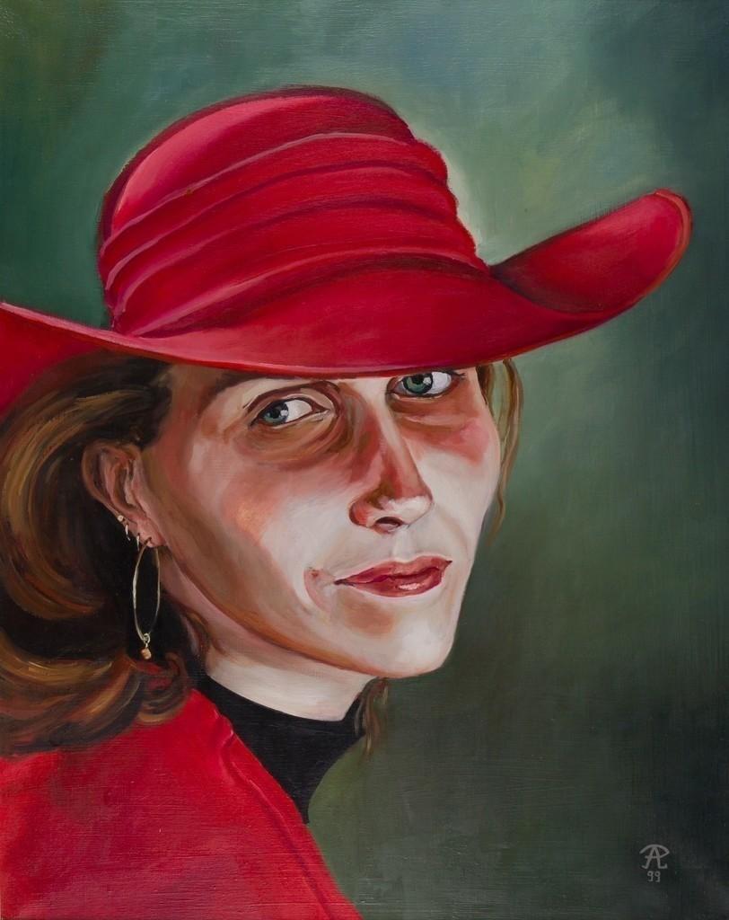 Mädchen in Rot | Originalformat: 60x48cm  -  Produktionsjahr: 1999