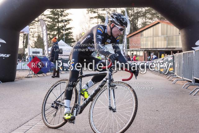 Radsport, Stevens Cyclocross Cup 2019, 10. Lauf (RSG Nordheide), Rennen 9 (Elite Herren + U23, Masters 2 / Elite Ü40 und Junioren U19), Buchholz i.d.N., 19.01.2020   #Domenic Karrasch (RG Hamburg, #47, Elite)