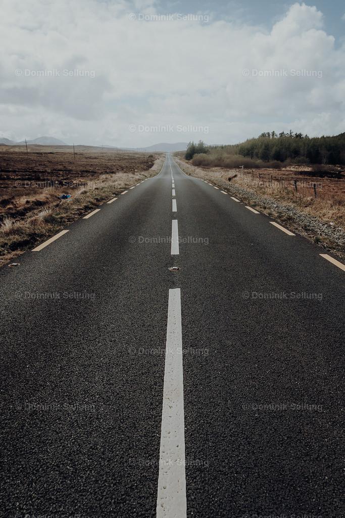 Muinebeag | Blick entlang der Straße in die Weite