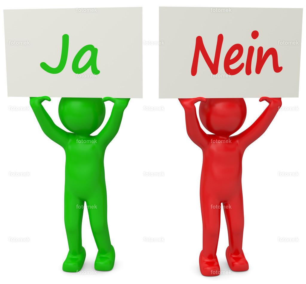 3d Männchen Ja Nein rot grün