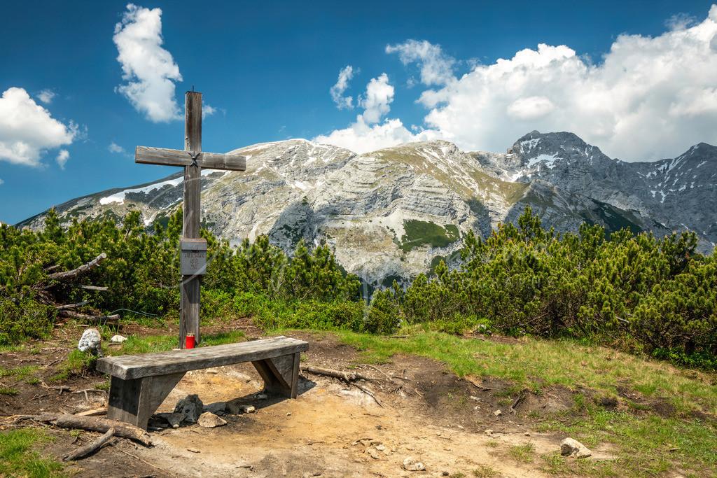 Kirchbergköpfl | Die höchster Erhebung des Hechenbergs ist das Kirchbergköpfl mit 1943m. Dahinter der Solstein.