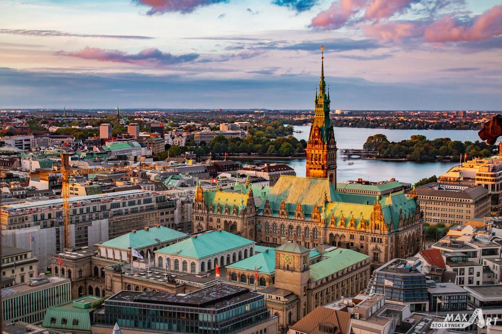 IMG_2388-HDR | Hamburg Rathaus mit einer Vogelperspektive
