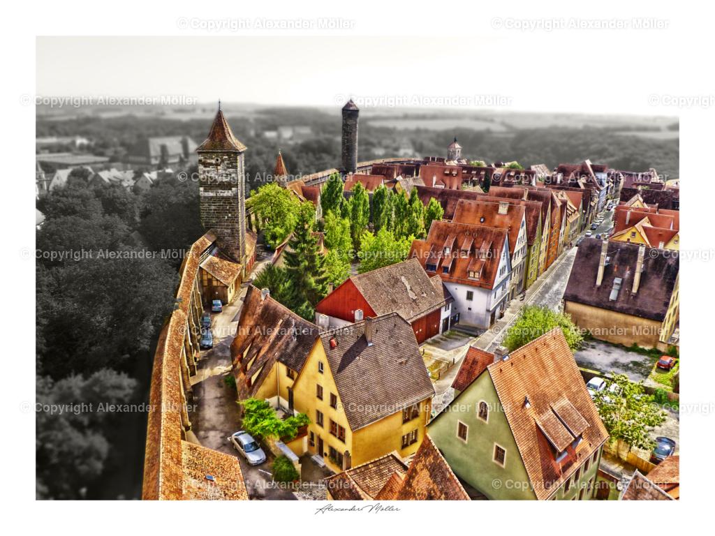 Rothenburg ob der Tauber No.91 | Dieses Werk zeigt das Leben und schaffen innerhalb der mittelalterlichen Mauern von Rothenburg ob der Tauber.