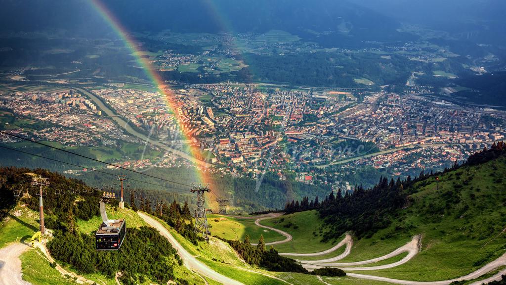 Regenbogen | Regenbogen mit Blick auf Innsbruck