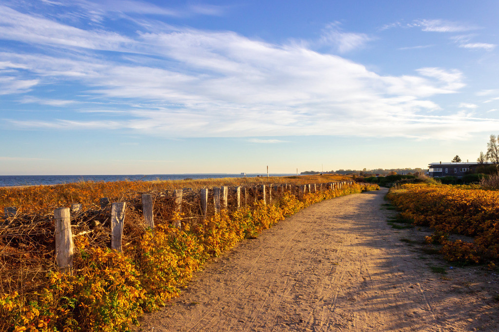 Strand in Weidefeld | Strand in Weidefeld im Herbst