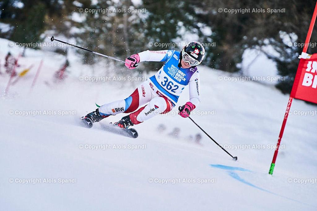 ALS5461_WWMG_GS-II_C | (C) FotoLois.com, Alois Spandl, WinterWorldMastersGames 2020 Innsbruck, Giant Slalom-II Gruppe C Damen, Patscherkofel Olympiaabfahrt, Mi 15. Jänner 2020.