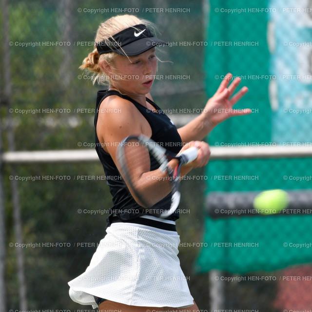 Tennis Damen (6er) Hessenliga TC Seeheim - TC Lorsch (1:6) 20190720 copyright by HEN-FOTO | Tennis Damen (6er) Hessenliga TC Seeheim - TC Lorsch (1:6) 20190720 Emma Fischer (S) copyright by HEN-FOTO Foto: Peter Henrich