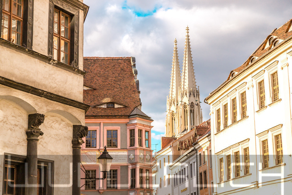 Blick zur Peterskirche in Görlitz