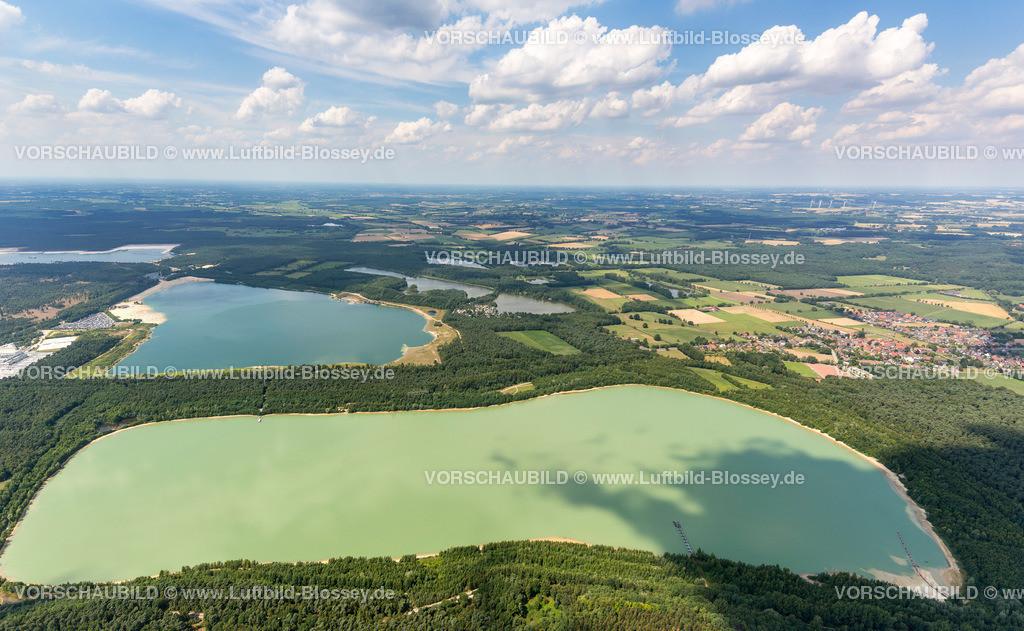 Haltern13081847 | Baggerseen im Norden von Halterne mit Silbersee II, Luftbild von Haltern am See