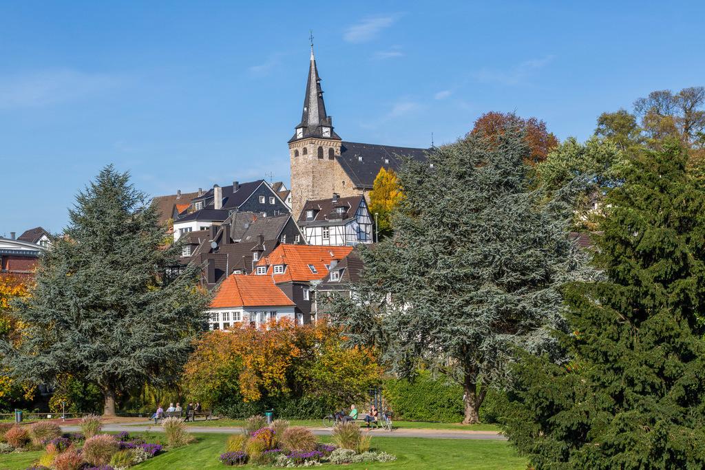 JT-131022-6035 | Essen-Kettwig, südlichster Stadtteil, an der Ruhr, Altstadt,  Marktkirche