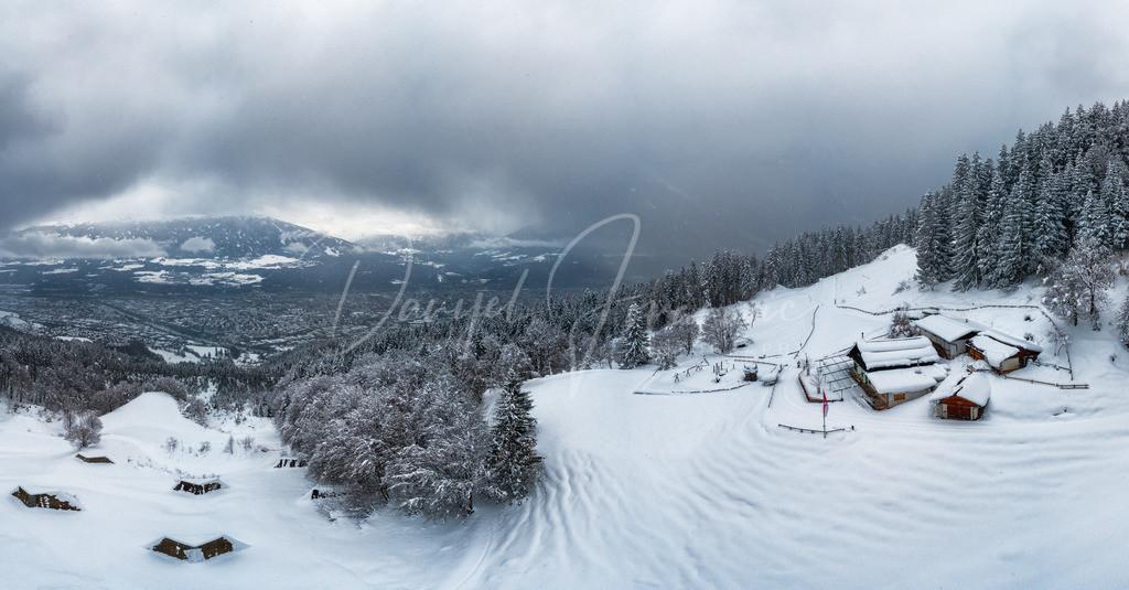 Arzler Alm | Die Arzler Alm mit Blick auf Innsbruck