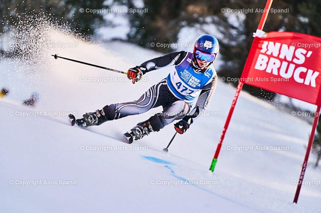 ALS6072_WWMG_GS-II_C | (C) FotoLois.com, Alois Spandl, WinterWorldMastersGames 2020 Innsbruck, Giant Slalom-II Gruppe C Damen, Patscherkofel Olympiaabfahrt, Mi 15. Jänner 2020.